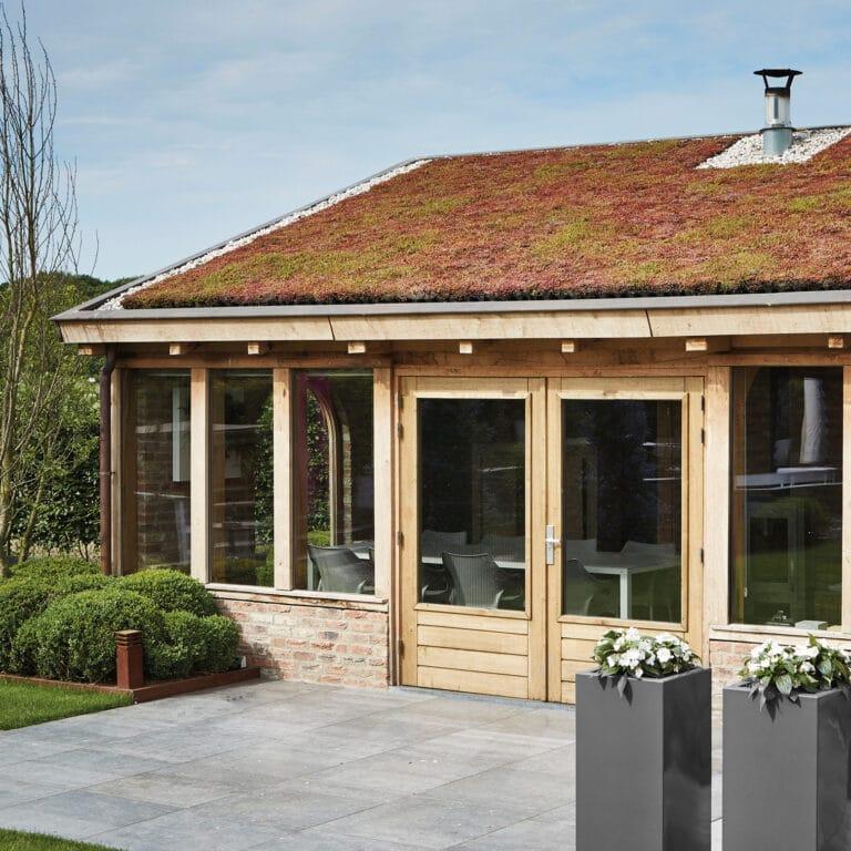 MobiRoof groen dak op tuinhuisje