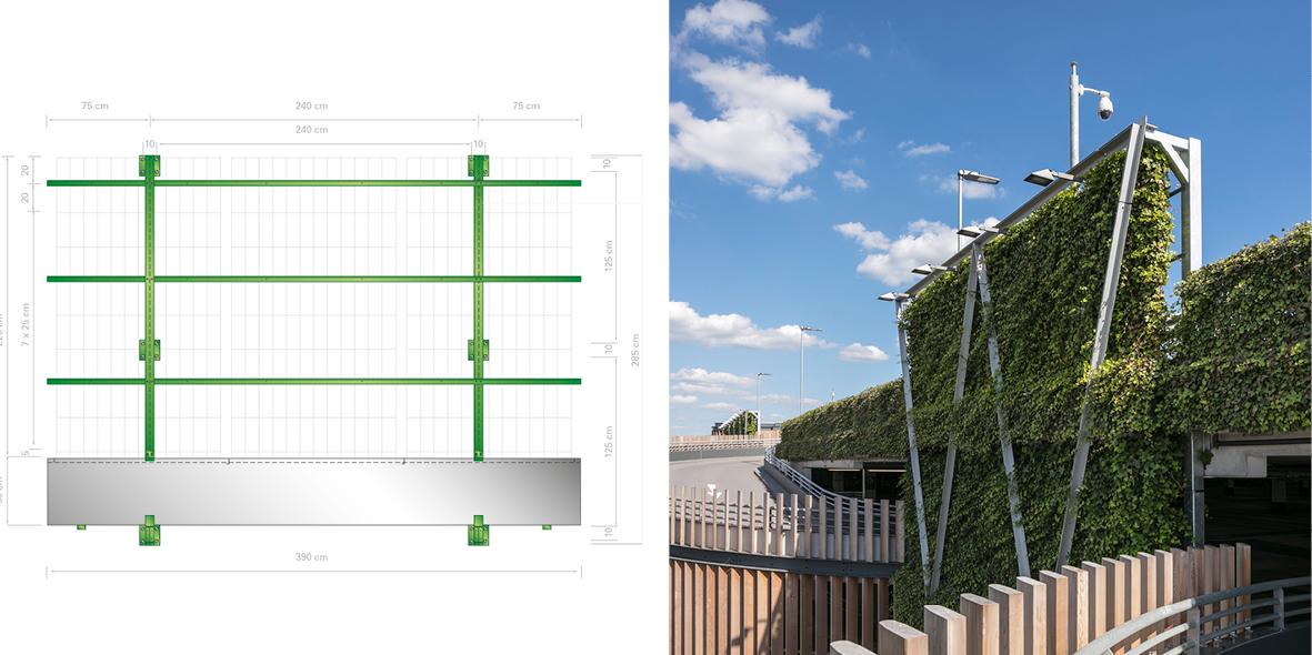 Mobilane WallPlanter groene gevel systeem