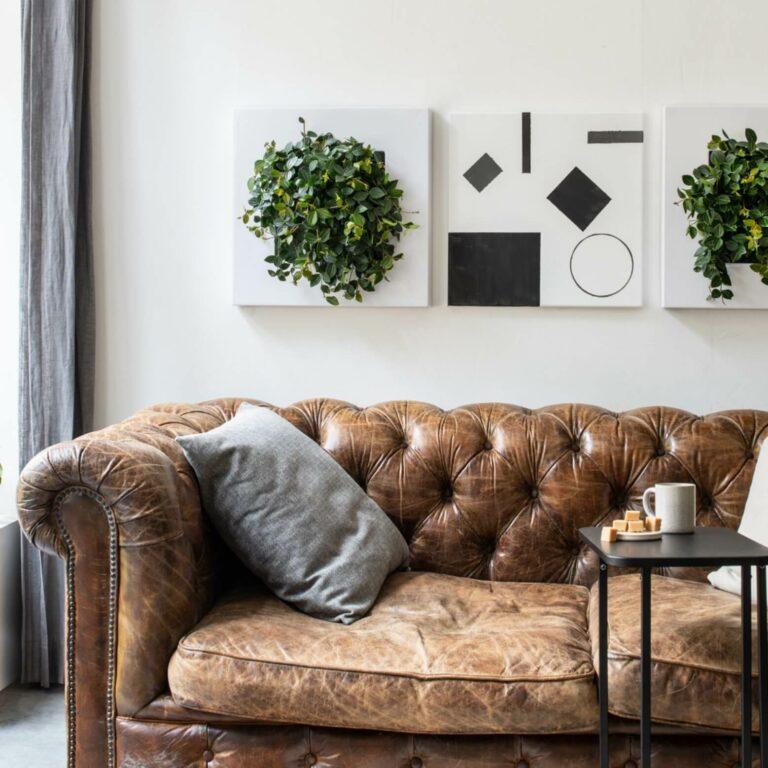 LivePicture GO groen schilderij sfeer in huis