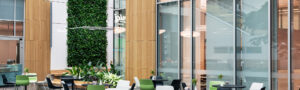 Mobilane LivePanel Indoor Natural green wall in the atrium, office of the Sartorius Group