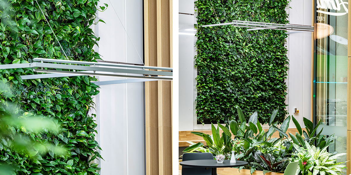 Mobilane LivePanel Indoor Sartorius Duitsland Groene wand systeem