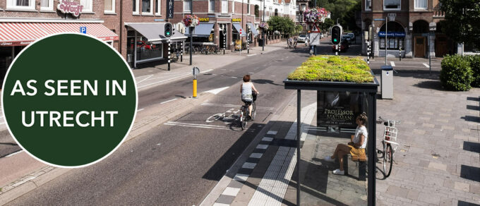 Mobilane bushokje groen dak Utrecht