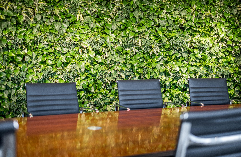 Mobilane LivePanel groene wanden kantoren