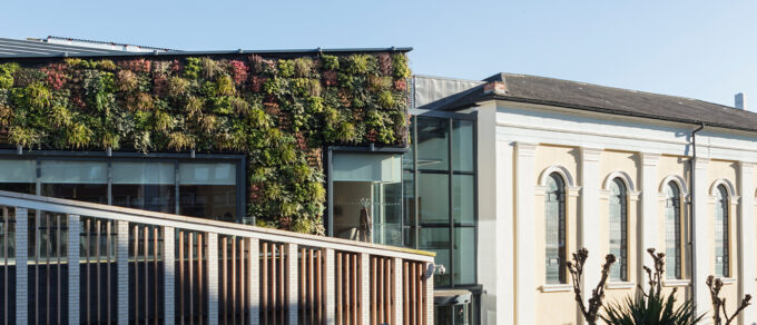 Mobilane LivePanel Outdoor Living wall creates symphony of foliage and colour at Nottingham Trent University