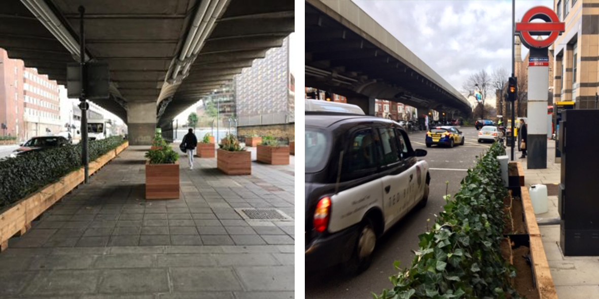 Mobilane Green screens hammersmith flyover clean air