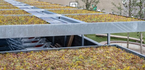 Mobilane Begrünte Dächer für Fahrradunterstände