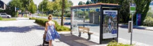 Mobilane bus shelters with green roof