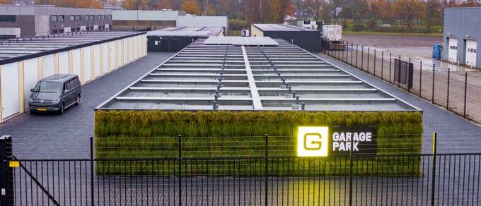 Mobilane LivePanel Outdoor green facade garagepark Bergen op Zoom